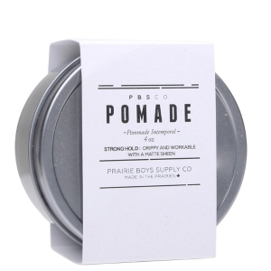 PRAIRIE BOY SUPPLY CO. STRONG HOLD HAIR POMADE - 4 oz