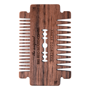 BIG RED BEARD COMB NO.16 - HARDWOOD BLADE - WALNUT