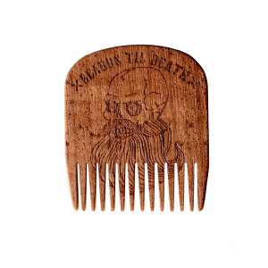 BEARDS TIL DEATH SKULL NO.5 - BIG RED BEARD COMB - MAKORE WOOD - SPECIAL EDITION