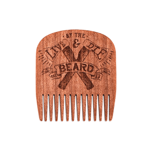 LIVE & DIE BY THE BEARD NO.5 - BIG RED BEARD COMB - MAKORE WOOD - SPECIAL EDITION