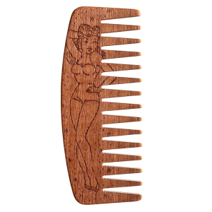 PEIGNE À BARBE BIG RED BEARD COMB NO.9 SPÉCIAL ÉDITION PIN UP GIRL - MAKORE
