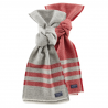 FARIBAULT WOOLEN MILL CO TRAPPER WOOL SCARVES - RED AND GREY