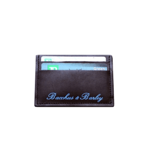 BACCHUS & BARLEY NIGHT ON THE TOWN WALLET - BLACK