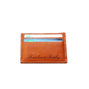 WHISKY BROWN NIGHT ON THE TOWN WALLET - BACCHUS & BARLEY LEATHER CARD HOLDER