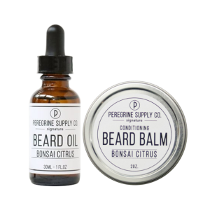 BONSAI CITRUS BEARD GROOMING COMBO - PEREGRINE SUPPLY - BEARD OIL AND BEARD BALM