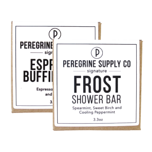 SHOWER SKIN CARE COMBO - PEREGRINE SUPPLY - BUFFING BAR & SHOWER BAR