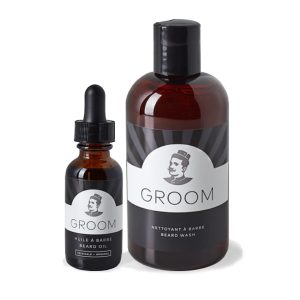BASIC GROOMING KIT - LES INDUSTIES GROOM - BEARD OIL AND BEARD WASH