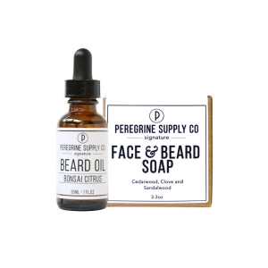 BONSAI CITRUS BEARD GROOMING DUO PACKAGE - PEREGRINE SUPPLY - BEARD OIL AND FACE & BEARD SOAP