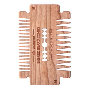 BIG RED BEARD COMB NO.16 - HARDWOOD BLADE - CHERRY