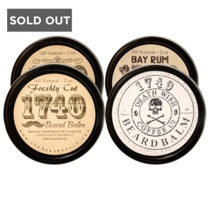 THE MANIAC PACKAGE - 1740 BEARD BALM - 4 x 2 OZ