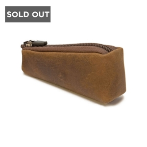 IKON WATERFIELD DESIGNS DOUBLE-EDGE RAZOR CASE - BROWN