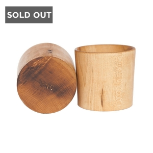 ROYAL NORTH COMPANY WHISKEY MAPLE WOODEN TUMBLERS
