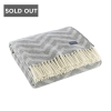 FAIRBAULT WOOLEN MILL CO ZIG ZAG WOOL TRHOW CHARCOAL AND NATURAL