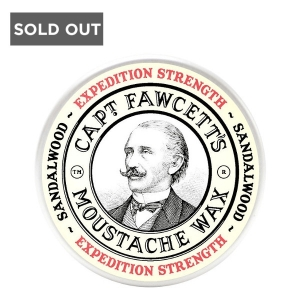 CAPTAIN FAWCETT SANDALWOOD EXPEDITION STRENGTH MOUSTACHE WAX - 0.5 oz