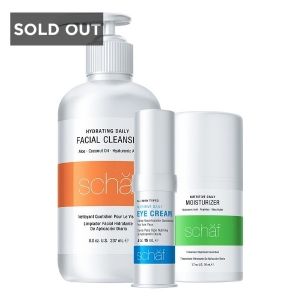 SCHAF SKIN CARE DAILY BUNDLE - FACIAL CLEANSER, MOISTURIZER & EYE CREAM