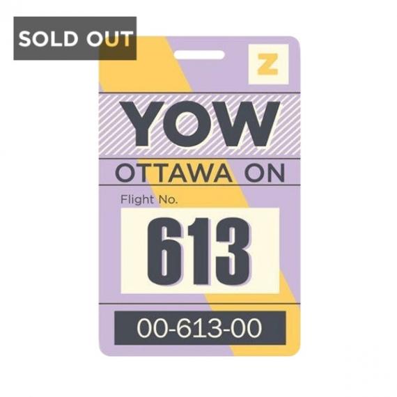 8ac11819c6d0 Luggage Tag YOW Ottawa Smitten Kitten | barbaware Canada