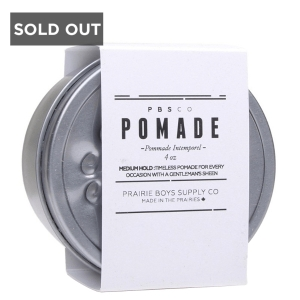 PRAIRIE BOY SUPPLY CO. MEDIUM HOLD HAIR POMADE - 4 oz
