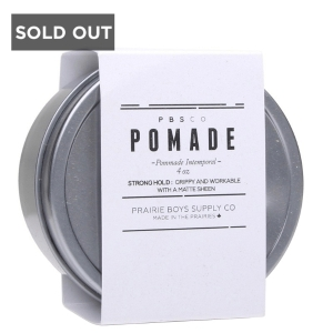 POMMADE À CHEVEUX TENUE FORTE PRAIRIE BOY SUPPLY CO. - 4 oz