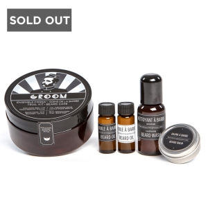 GROOM TRIAL BEARD GROOMING KIT - BEARD OILS, BEARD BALM AND BEARD WASH