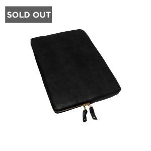 BLACK IPAD MINI SLEEVE - WOOLFELL LEATHER APPLE TABLET SLEEVE