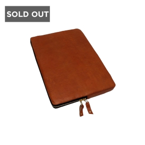 TAN IPAD MINI SLEEVE - WOOLFELL LEATHER APPLE TABLET SLEEVE
