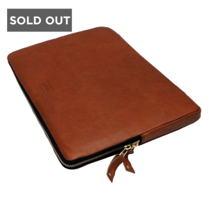 BLACK IPAD SLEEVE - WOOLFELL LEATHER APPLE TABLET SLEEVE