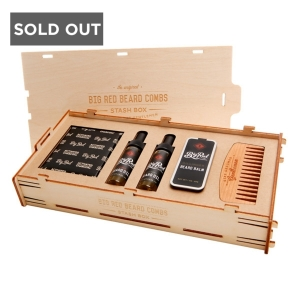 STASH KIT BEARD GROOMING PACKAGE - BIG RED BEARD COMBS - BEARD OILS, BEARD BALM , BEARD SHAMPOO & BEARD COMB