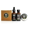 URBAN BEARD BEARD GROOMING KIT - BEARD OIL, BEARD CLEANSING CONDITIONER, BEARD SHAMPOO AND MUSTACHE WAX