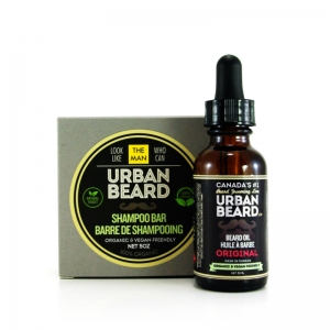 ESSENTIAL BEARD GROOMING DUO PACKAGE - URBAN BEARD - BEARD OIL & BEARD SHAMPOO