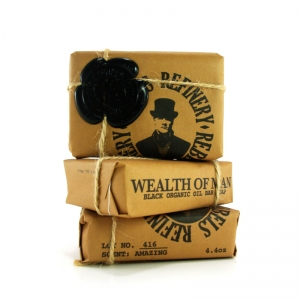 PACK OF 3 - WEALTH OF MAN ORGANIC OIL BODY SOAP BAR - REBELS REFINERY SKIN CARE
