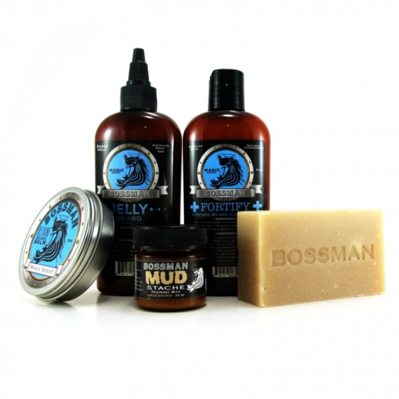 THE ESSENTIAL CARE PACKAGE - BOSSMAN BRANDS JELLY™ BEARD KIT - MAGIC SCENT