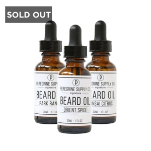 THE FANATIC PACKAGE - PEREGRINE SUPPLY BEARD OILS - 3 x 30 ML