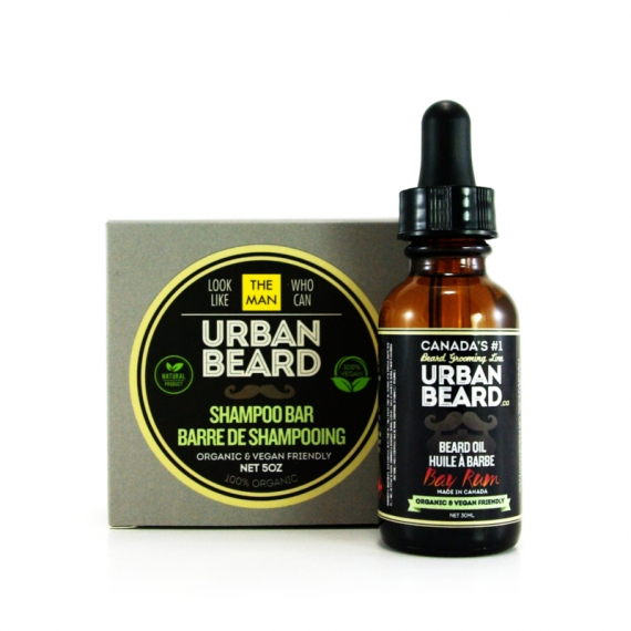 BAY RUM ESSENTIAL BEARD GROOMING DUO PACKAGE - URBAN BEARD - BEARD OIL & BEARD SHAMPOO