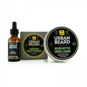 BAY RUM BEARD CARE KIT - URBAN BEARD - BEARD OIL, BEARD SHAMPOO & BEARD BUTTER