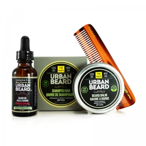 BEARD CARE KIT - URBAN BEARD - BEARD OIL, BEARD SHAMPOO & BEARD BUTTER