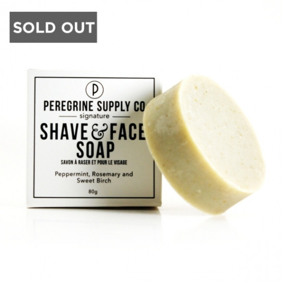 SHAVE AND FACE SOAP - PEREGRINE SUPPLY CO - 80 G