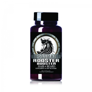 ROOSTER BOOSTER - BOSSMAN BRANDS - HAIR & BEARD SUPPLEMENT - 60 CAPSULES
