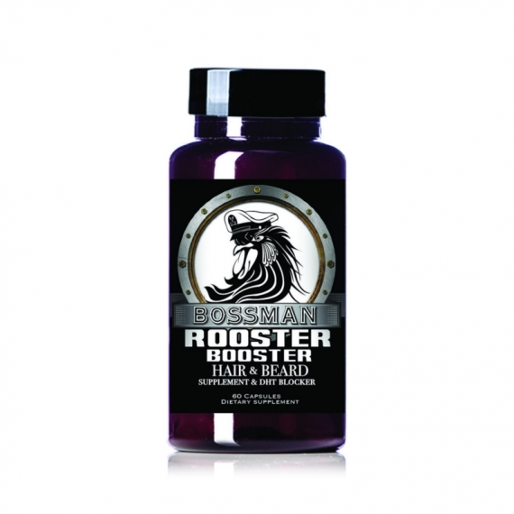 ROOSTER BOOSTER - BOSSMAN BRANDS - HAIR & BEARD SUPPLEMENT - 60 CAPSULES