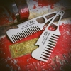 NO.88 - BIG RED BEARD COMB - LITE - STAINLESS STEEL