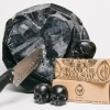 PACK OF 3 - CHARCOAL AND GLYCERIN SKULL SOAPS - REBELS REFINERY SKINCARE - BLACK SKULLS
