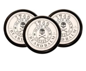 3 tins of 1740 Death Wish Coffee-Infused beard balm