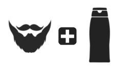 beard + shampoo icon