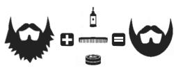 messy beard + beard oils and balms = neat beard icon