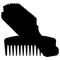 beard comb & brush icon