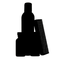 Beard grooming kit icon
