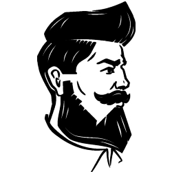 beardsman with handlebar icon