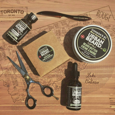 BEARD GROOMING KIT URBAN BEARD with BEARD OIL, BEARD CLEANSING CONDITIONER, BEARD SHAMPOO & MUSTACHE WAX