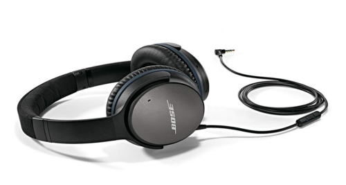 The Bose QuietComfort 25 acoustic noise cancelling headphones