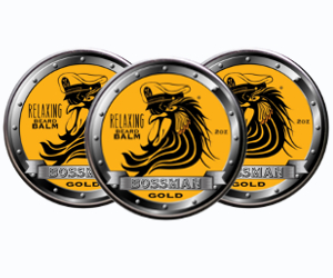 3 Bossman Brands Gold Scent Relaxing beard balms
