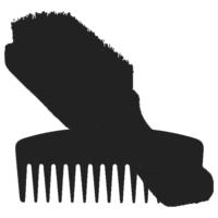 beard comb & brush icon
